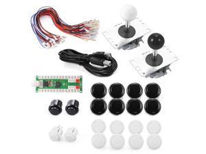 XCSOURCE®  2 Players Zero Delay Arcade Game USB Encoder PC Joystick DIY Kit for Mame Jamma & Other Fighting Games AC491