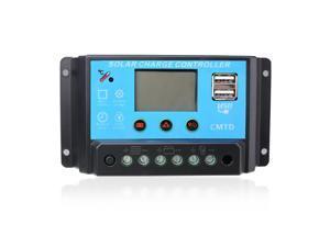 Sunix® Sunix Intelligent 10A 12V/24V LCD Display Solar Panel Charge Controller Battery Regulator with Dual USB Ports SU702