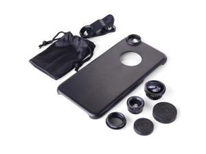 XCSOURCE® Xcsource 5in1 Lens Cover Black Kit Fisheye Slim Thin Case For iPhone 6 4.7 DC549