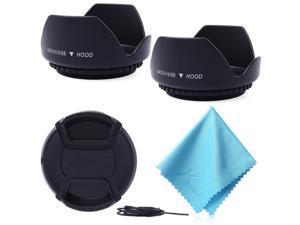 XCSOURCE® 58mm 2x Lens Hood + Cap + Cloth for Canon Rebel T3i T4i T5 T5i XSI XS XTI LF415