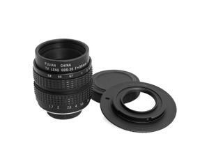 XCSOURCE® 35mm f1.7 Movie Lens C Mount Adapter for Micro 4/3 Camera Panasonic Olympus LF12