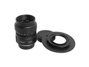 XCSOURCE® 25mm f/1.4 C mount CCTV TV Lens + M4/3 Adapter + Macro Ring for GF3K E-PM1 LF10