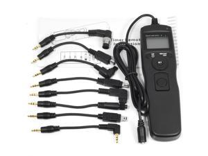 XCSOURCE® Timer Remote Control + 8pcs Adapter Cord Cable for Canon Nikon Sony Pentax DC175