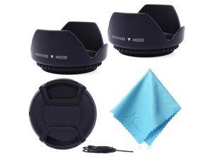 XCSOURCE® 52MM 2x Lens Hood + Cap + Cloth for Nikon D5200 D3000 D7100 D7000 18-55mm LF414