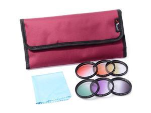 XCSOURCE® 6pcs 52mm Graduated Color Filter Kit For Canon Rebel T1i XT XTi XSi XS SL1 LF348