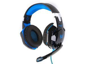 XCSOURCE KOTION EACH G2000 Over-ear Game Gaming Headphone Headset Earphone Headband with Mic Stereo Bass LED Light for PC Game ( Black & Blue) TH092