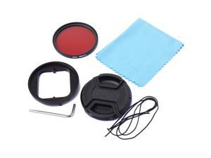 XCSOURCE® 58mm Red Filter+Adapter +Protecting Cap For Gopro Hero3 Waterproof Housing LF354
