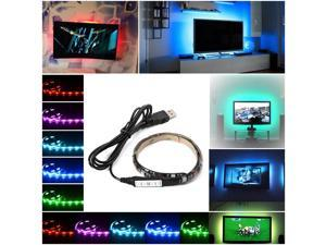 XCSOURCE®  Multi-color RGB 50cm 5050 SMD LED Strip Light TV Computer Background Waterproof Lighting Kit with USB Cable LD794