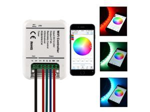 Sunix® Sunix RGB LED Strip WiFi Remote 5 Channels Controller DC 12-24V for iOS Android Smartphones SU705