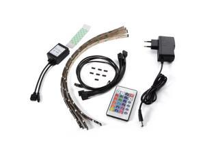 XCSOURCE®  4pcs Multi-color RGB 40cm 5050 SMD LED Strip Light TV Computer Background Waterproof Lighting Kit with 24Key Controller LD797