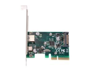 XCSOURCE®  2 Ports USB 3.1 10Gbps GEN II PCI Express Card 1 USB Type C and 1 USB Type A Port AC475