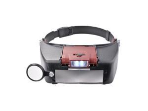 XCSOURCE® LED Light Headband Adjustable Magnifier Magnifying Glasses Handsfree Headset 2 Loupe Lens HS704
