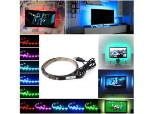 XCSOURCE®  Multi-color RGB 90cm 5050 SMD LED Strip Light TV Computer Background Waterproof Lighting Kit with USB Cable LD796