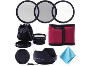 XCSOURCE® 52MM 0.45x Wide Angle + lens Filter Kit for NIKON D5200 D3000 D7100 D7000 LF412