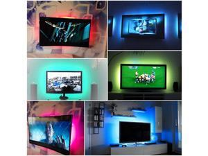 XCSOURCE®  2pcs Multi-color RGB 50cm 5050 SMD LED Strip Light TV Computer Background Waterproof Lighting Kit with 24Key Controller LD795