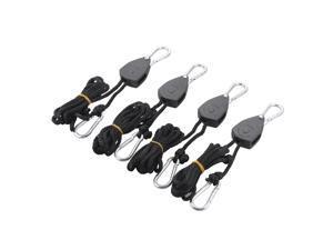 """XCSOURCE®  4pcs 1/8"""" Grow Heavy Duty Light Fixture Pulley Tie Lamp Hanger Rope Adjustable Ratchet Hook HS440"""