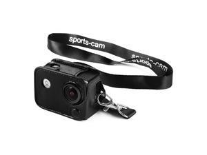 Amkov® Amkov Protective Leather Case with Lens Cap, 180 Degree Rotation Design Clip and Lanyard for SJ Cam SJ4000 SJ5000 SJ6000 Camera LF763