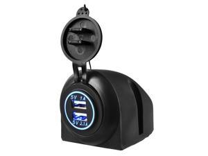 XCSOURCE®  Car Charger - Dual Ports 5V 1A/2.1A USB Charger Socket Adapter Car Cigarette Accessory DC 12V-24V Blue LED for Cellphone MA922