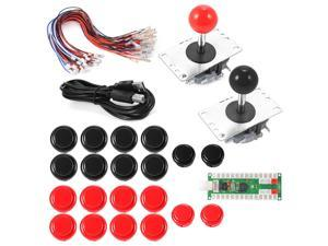 XCSOURCE®  2 Players Zero Delay Arcade Game USB Encoder PC Joystick DIY Kit for Mame Jamma & Other Fighting Games AC608