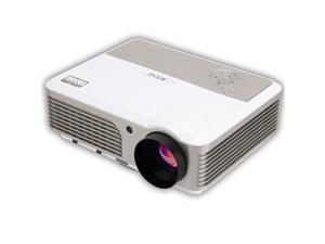 Mileagea HD Projector Full Color Single LCD Panel LED Technology 720P 2600 Lumens Multimedia Beamer Home Projector for Game TV Cinema Theater Tablet