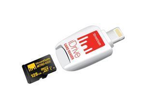 Strontium Nitro 466X 128GB MicroSDXC UHS-1 Memory Card with iDrive Card Reader