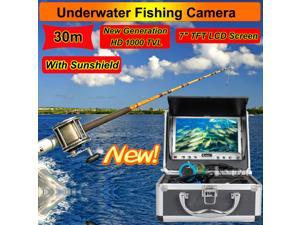 "Eyoyo 30M 7"" HD Screen LCD 800*480p Monitor 1000TVL Underwater Camera Ice/Sea Fishing Fish Finder With Sunshield"