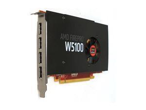 AMD FirePro W5100 4GB 128-bit GDDR5 PCI Express 3.0 x16 4K Workstation Video Card