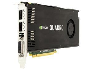 Nvidia Quadro K4000 3GB GDDR5 PCIe 2.0 x16 Dual DisplayPort DVI-I Graphics Card