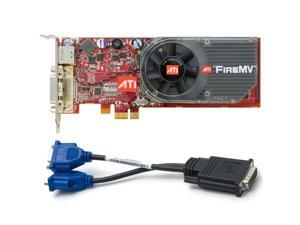ATI's FireMV multi-view 2D workstation acceleration cards are designed exclusively for the financial and corporate marketplaces. Offering dual and quad monitor cards based on the PCI and PCI Express b