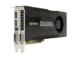 NVIDIA Quadro K5000 4GB GDDR5 PCIe 2.0 x16 Dual DP DVI Graphics Video Card
