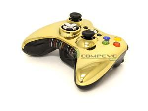 Microsoft XBOX 360 Chrome Gold Series Star Wars Edition 1403 Wireless Controller