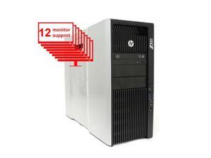 Multi Monitor HP Z820 Computer 2x Intel Xeon E5-2640 2.50GHZ 12-Core / 24GB RAM / 1TB HDD + 256GB SSD / Nvidia NVS 510 / Win10/ 12 Monitor support Workstation