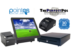 Retail Point of Sale System with Windows Posready/retail/restaurant. All in One Touch Screen 2gb Ram,320 Hdd, Compatible with Any Software