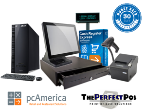 Point Of Sale Solution For Retail Includes PC America Cash Register Express