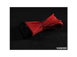 "Darkside 24-Pin ITX 7"" (20cm) HSL Single Braid Extension Cable - Red (DS-0636)"