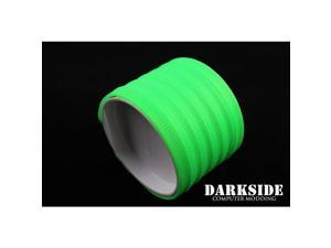 """DarkSide 10mm (3/8"""") High Density SATA Cable Sleeving - Green UV (DS-0111)"""