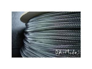 "Darkside 6mm (1/4"") High Density Cable Sleeving - Graphite (DS-HD6-GMC)"