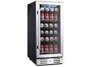 """Kalamera KRC-90BV 15"""" Beverage Refrigerator 96 can built-in Single Zone Touch Control"""