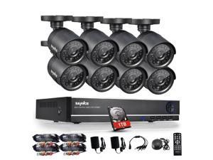 8-Channel Full 960H HD DVR Security Camera Systems & 1TB HDD with Sannce 8x 800 In/Outdoor Day/Night Bullet Cameras, ...