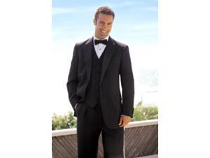 2 Button Solid ~ plain Soft 3 Pieces Vested Tuxedo Super 150's Wool Suit