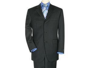 Premier quality NAVY Pinstripe 3 Buttons Mens Suit