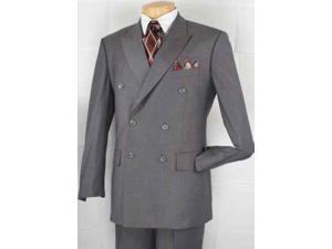Mens Executive Double Breasted Suit BLACK