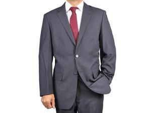Mens 2 Button Style Jacket Suit & Plus Pants  charcoal Notch Collar