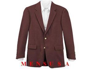 Dark Burgundy ~ Maroon ~ Wine Color 2 Button Front 4 on Sleeves Fully Lined Metal Button (Men + Women)