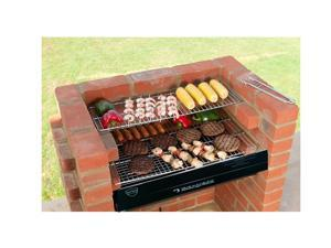 Black Knight Barbecue Grill BBQ Kit With Stainless Steel Cooking Grid And Warming Grid