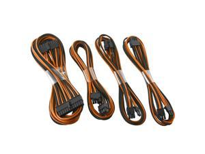 CableMod E-Series ModFlex™ Basic Cable Kit for EVGA G3, G2, P2 & T2 - Black / Orange