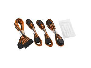 CableMod® ModFlex™ Basic Cable Extension Kit - Dual 6+2 Pin Series - BLACK / ORANGE