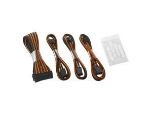 CableMod® ModFlex™ Basic Cable Extension Kit - 6+6 Pin Series - BLACK / ORANGE