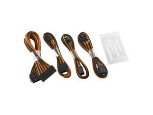 CableMod® ModFlex™ Basic Cable Extension Kit - 8+6 Pin Series - BLACK / ORANGE