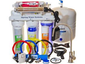iSpring RCC7AK-UV - WQA Gold Seal - Most Comprehensive 7-Stage 75GPD Reverse Osmosis RO Water Filtration System with Flow Sensor Switch 11W UV & Alkaline Mineral Stage